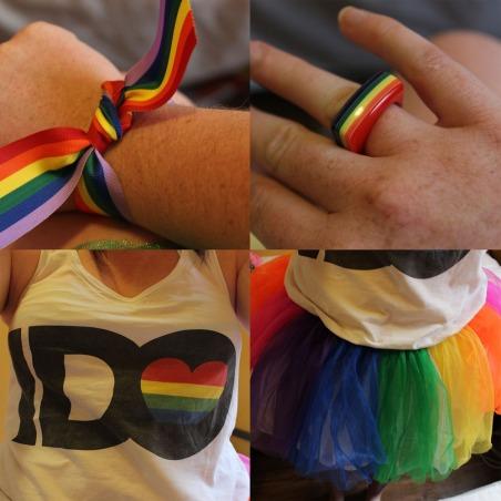 Rainbow colage